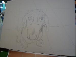 Initial drafting in graphite