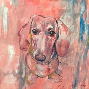 28. Puppy Eyes II_2018 (457x457mm; Acrylics on Canvass) SOLD