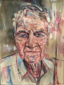 """Uncle Charles """"Chica Madden"""" 2019 Oils/Canvass 620 x 820 mm"""