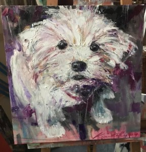 """""""Coco II"""" oils/canvass; 360 x 360 mm (sold)"""