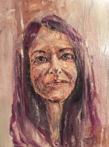 """Rosa"" 2019 OIls/Canvass 355 x 406 mm"