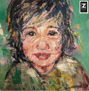 """""""Little Boy"""" 2018 Oils/Canvass 406 x 406 mm"""