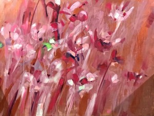 """""""Serenely You, Serenely Me, To Be With Or Not To"""" acrylics/oils/canvass; 900x1200mm; """"May You Find Your Secret Garden; That Special Place - And Find Serenity Alone Or Accompanied With A Partner. Choice. Love & Peace."""" 2019 (Price $3,600)"""