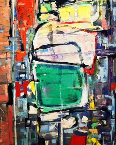 """Spectrum II"" 2018 (457 x 610 mm; Oils on Canvass) (Price $1,000)"