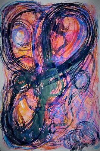 """CORE Series"" Watercolour; 690 x 910 mm Kenneth W H Lee 2020"