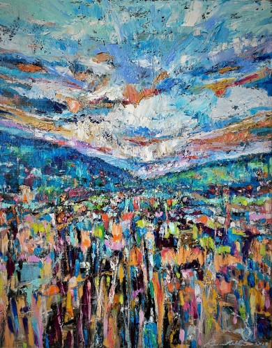 """""""Somewhere Only We Know"""" Kenneth W H Lee Oils/canvass; 490 x 680 mm """"It's OK, Maybe We Meet In The Next Life."""""""